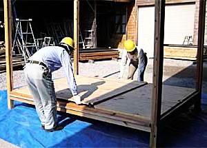 組み立て式木造物置キット おきまるくん